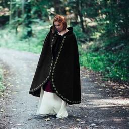 Capa de lana Ceridwen, negro