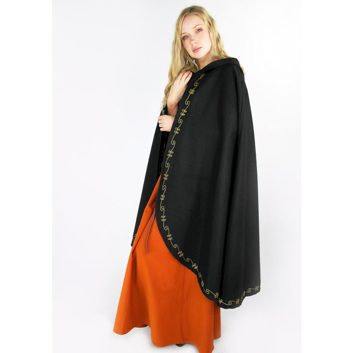 Leonardo Carbone Wool cloak Ceridwen, black