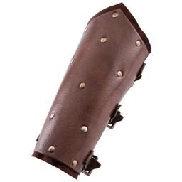 Armbeschermers met klinknagels, bruin