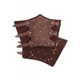 Vambraces med nitter, brun