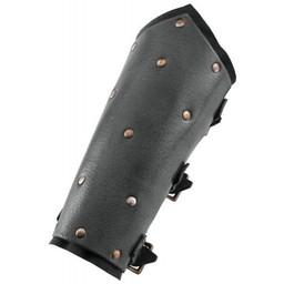 Armbeschermers met klinknagels, zwart