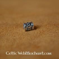 Viking skæg perle med pastil sølv
