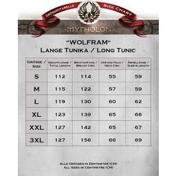 Mittelalterliche Tunika Wolfram, schwarz