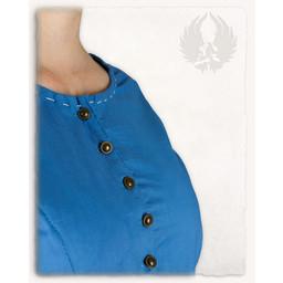 Middeleeuwse jurk Elodie, licht blauw/creme