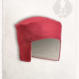 Renaissance hat Rafael wool, red