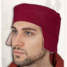 Renaissance muts Rafael wol, rood