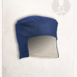 Renaissance Hut Rafael Wolle, blau