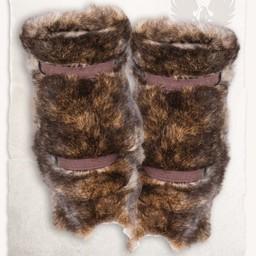 Fur vambrace Arthur, brun