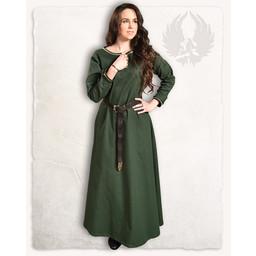 Middeleeuwse jurk Heloise, donkergroen