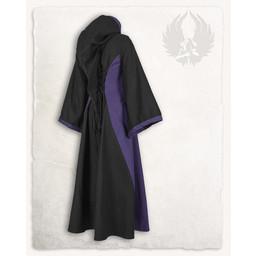 Średniowiecznej sukni Iris, czarny / fioletowy