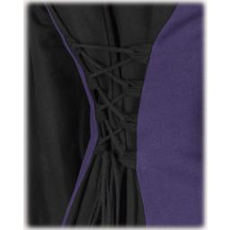 Medieval kjole Iris, sort / lilla