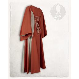 Medieval kjole Jasione, orange / creme