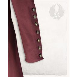 Middeleeuwse jurk Jovina, rood