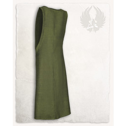 Surcot Juliana, herringbone motif, green