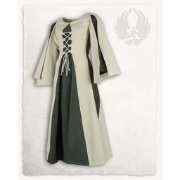 Mittelalterliche Mädchen kleiden Kirian, creme / grün