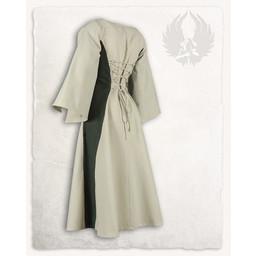 Medieval girls dress Kirian, cream/green