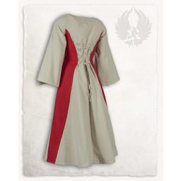 Medieval girls dress Kirian, cream/red