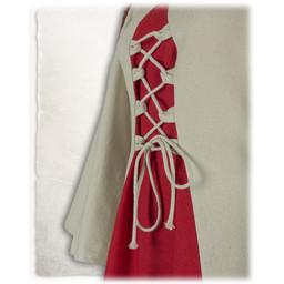 Mittelalterliche Mädchen kleiden Kirian, creme / rot