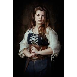 Mittelalterliches Kleid Leandra, dunkelblau