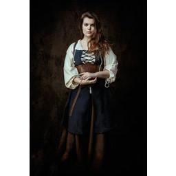 Medeltida klänning Leandra, mörkblå