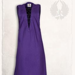 Medieval ærmeløs kjole Lenora, lilla