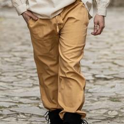Spodnie bawełna Alin, miód