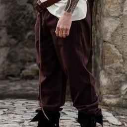 Spodnie bawełna, ciemnobrązowe