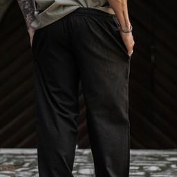 Cotton trousers, black