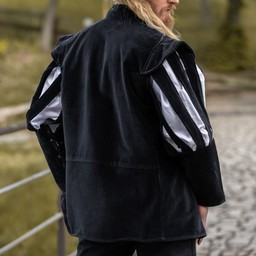 Jacket with open sleeves, black