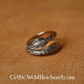 Viking Ring grot włócznis wzór, brąz