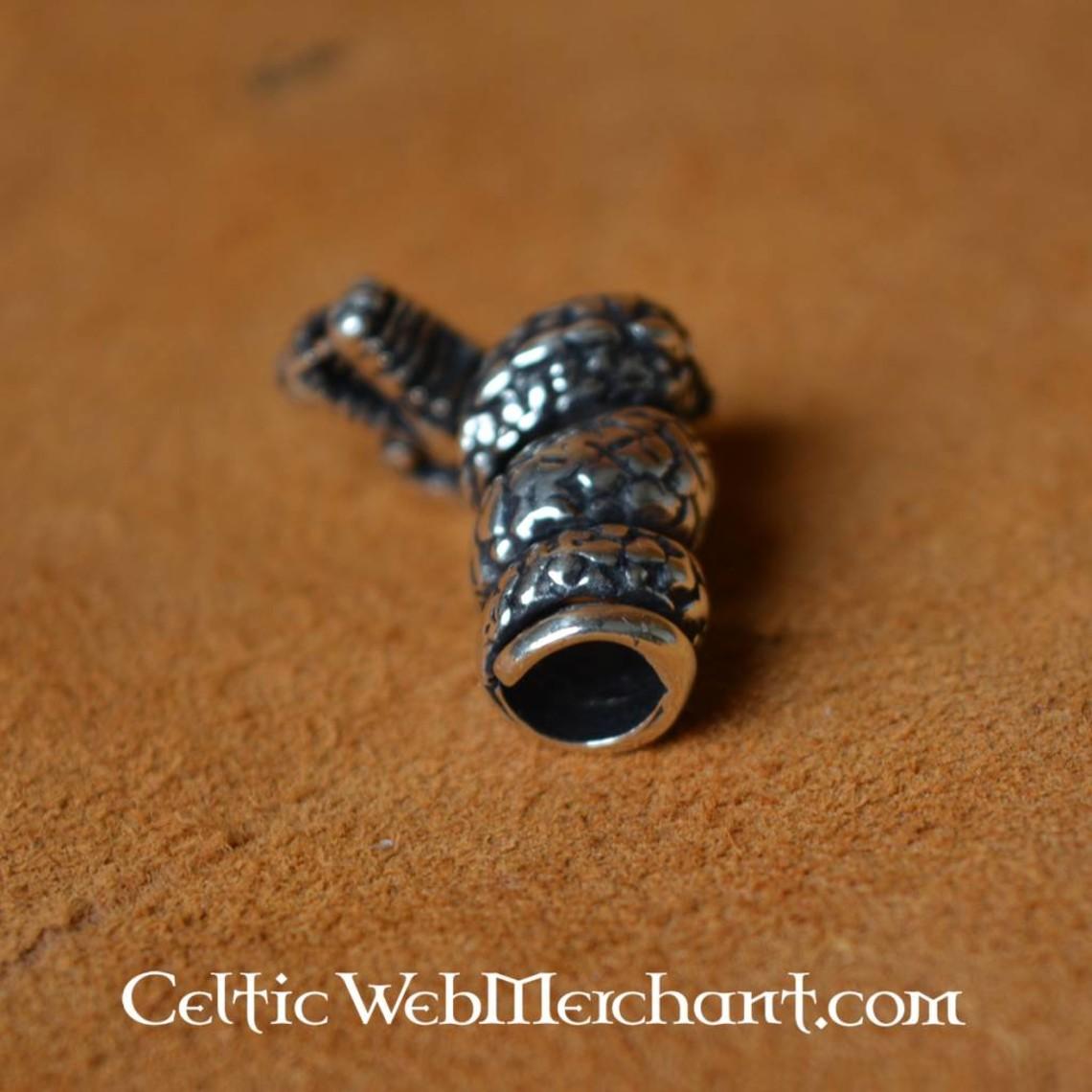 Viking Drachen Bart Perle Silber