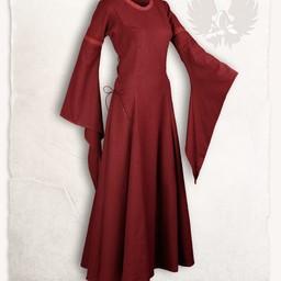 Middelalderlig kjole lenora, rød