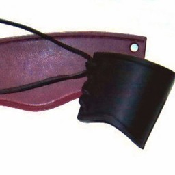 Läder vambras brun, kort, l
