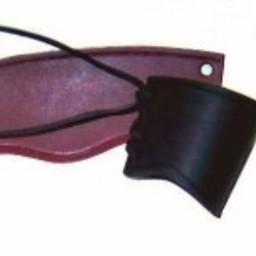 Leather vambrace black, short, M