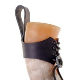 Drinking horn holder Argast, black, M