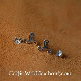 Örhängen Triskelion, silver
