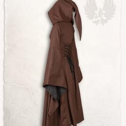 Middelalderlig kjole ophelia, brun-sort