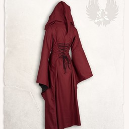 Medieval dress Ophelia, red-black