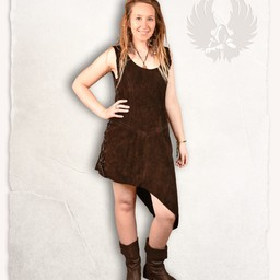 Leather dress Lunette, black