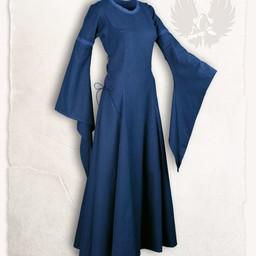Middelalderlig kjole lenora, blå