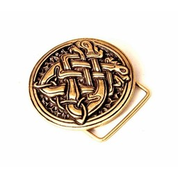 Medieval buckle celtic dogs