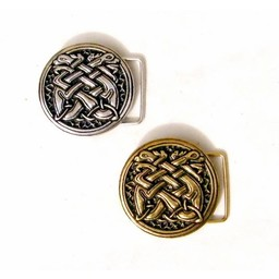 Medieval buckle celtic dogs, silver plated