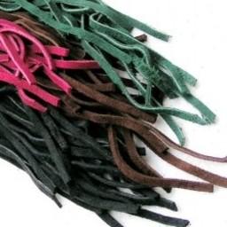 Suede læder snørebånd, røde 100 stk
