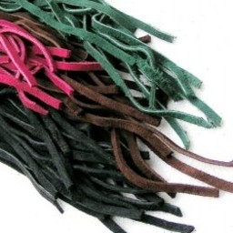 Suede leather laces, green 100 pieces