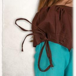 Tjejens klänning Rebecka, blåbrun