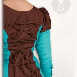 Mädchen Kleid Rebecka, blau-braun