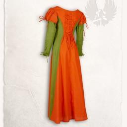 Abito da ragazza Rebecka, arancione-verde