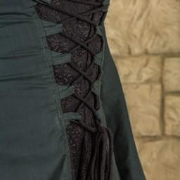 Middeleeuwse jurk Ophelia, groen-zwart