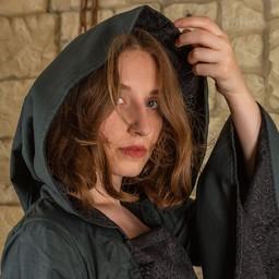 Mittelalterliches Kleid Ophelia, grün-schwarz