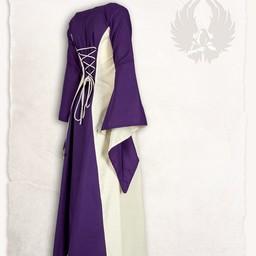 Medieval dress Stella, lilac-cream